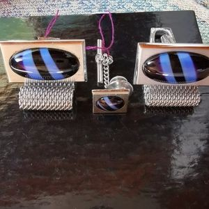 NWT cufflinks cuff link and stud set